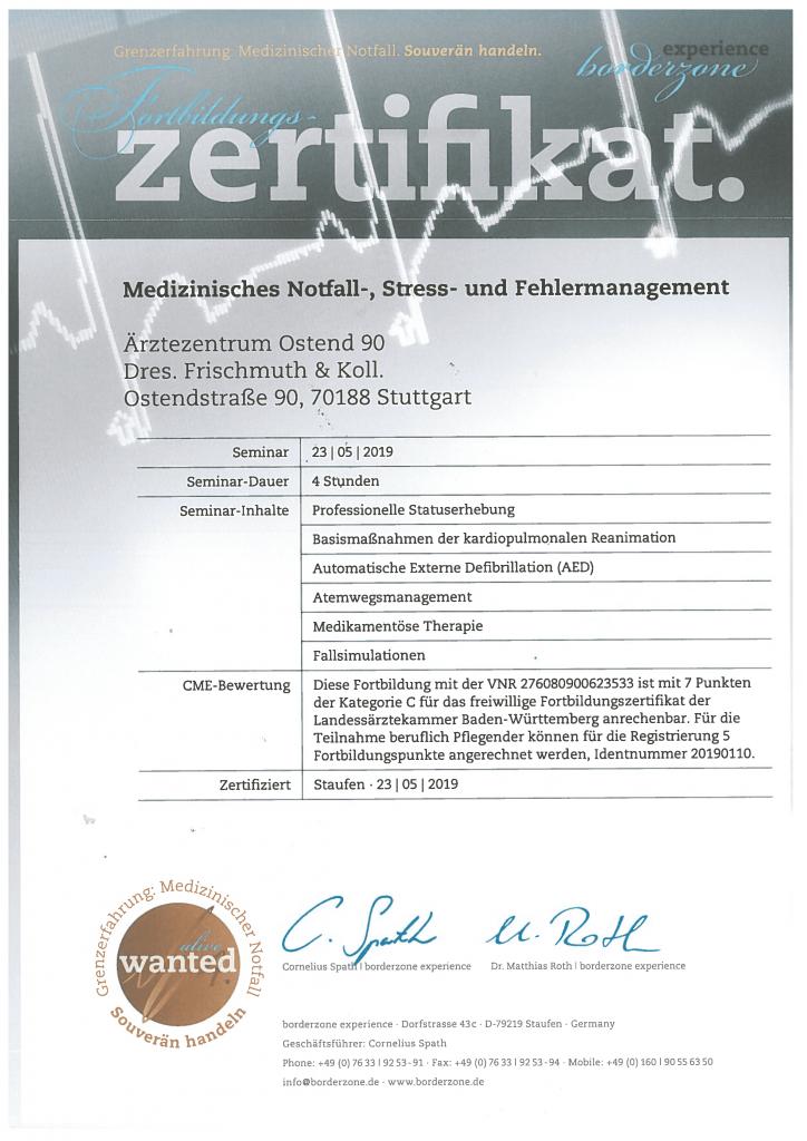 zertifikat az ostend