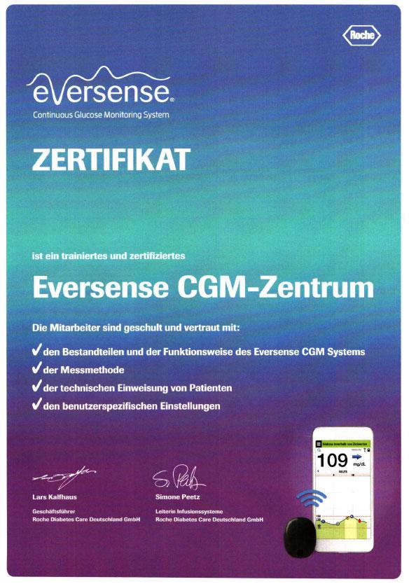 Zertifikat-Eversense